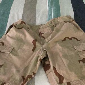 Camo BDU shorts